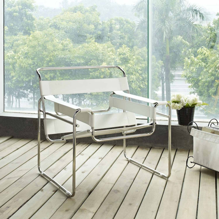 Slingy Lounge Chair - White