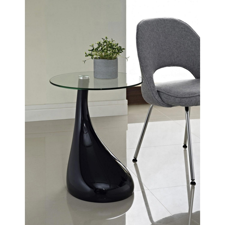 Teardrop Side Table - Black