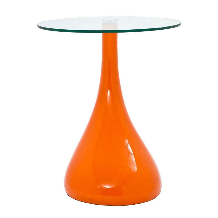 Teardrop Side Table - Orange