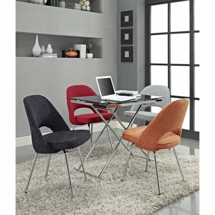 Cordelia Dining Fabric Side Chair - Red