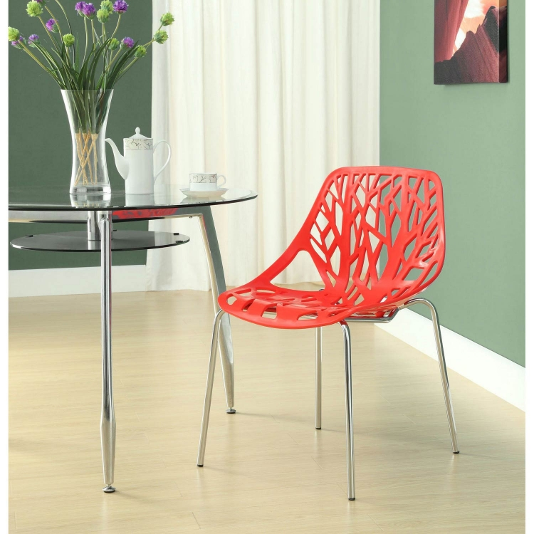 Stencil Dining Side Chair - Red