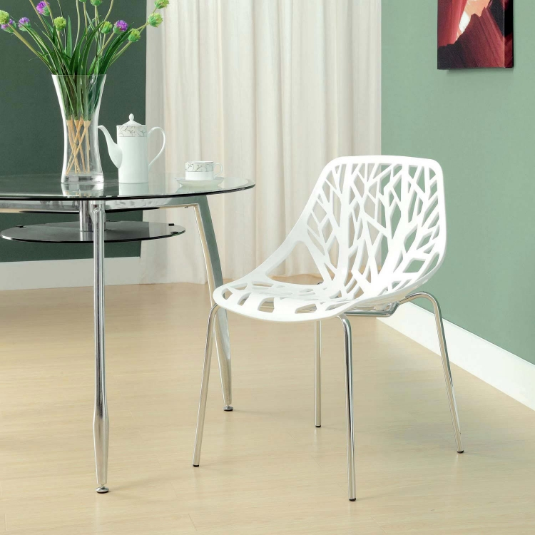 Stencil Dining Side Chair - White