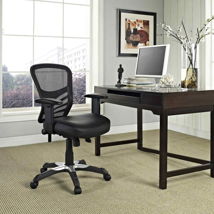 Articulate Vinyl Office Chair - Black