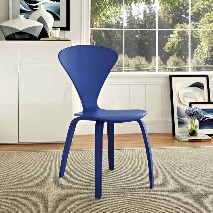 Vortex Dining Side Chair - Blue