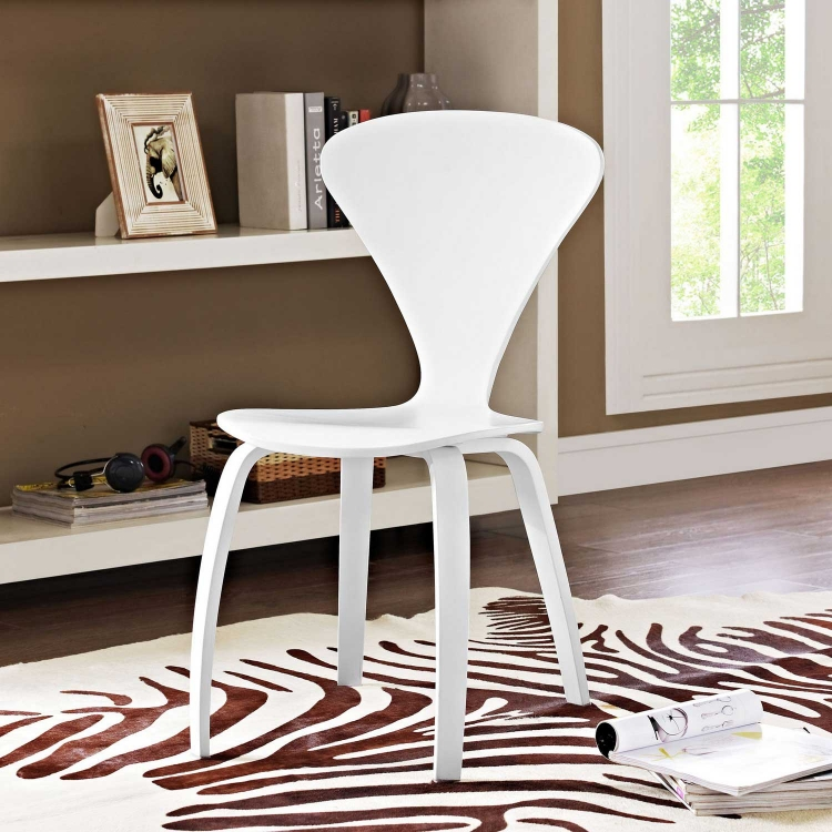 Vortex Dining Side Chair - White