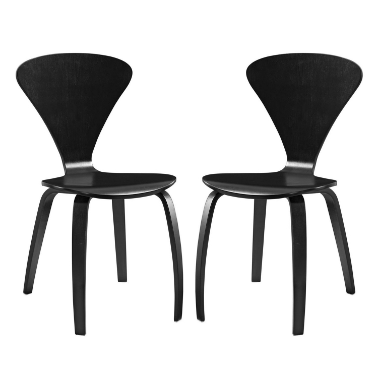 Vortex Dining Chairs Set of 2 - Black