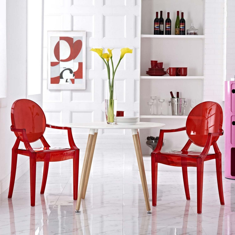Casper Dining Armchairs Set of 2 - Red