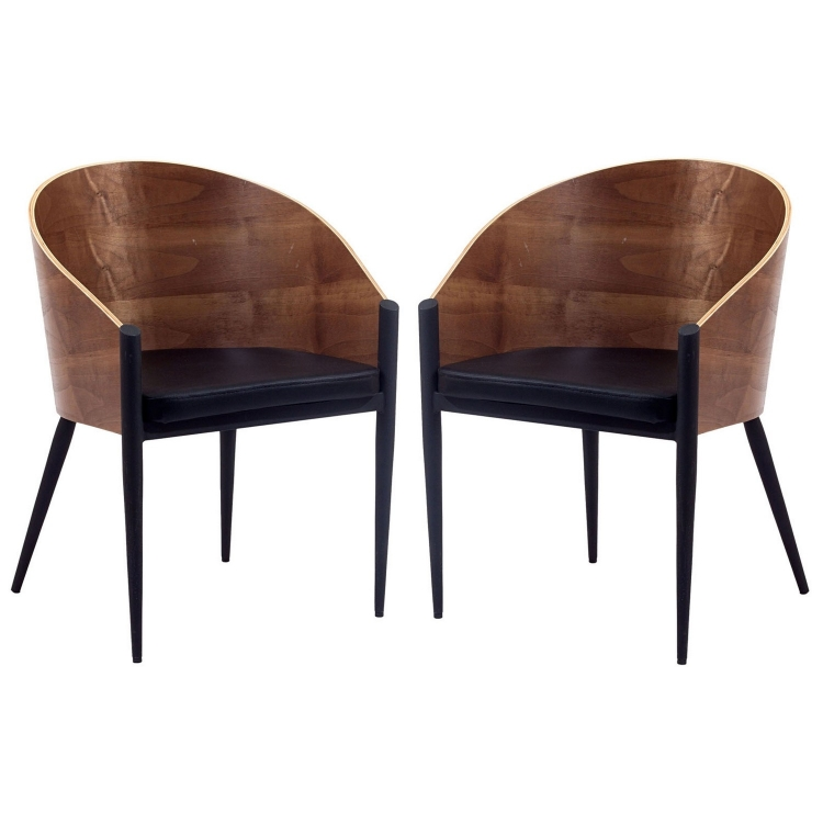 Cooper Dining Chairs Set of 2 - Walnut