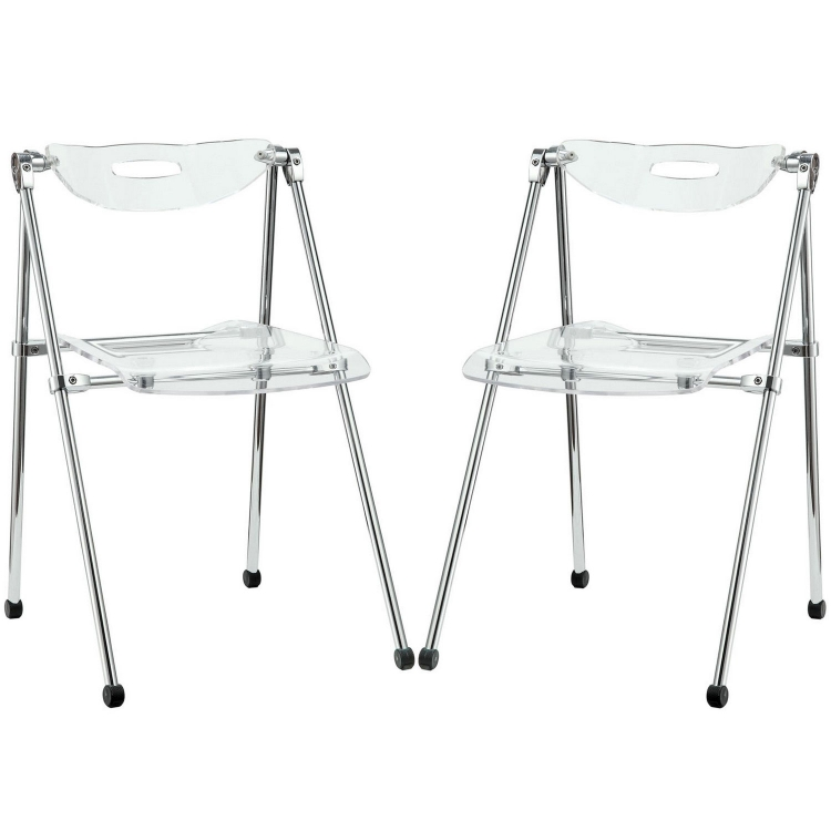 Telescope Set of 2 Dining Chairs - Clear