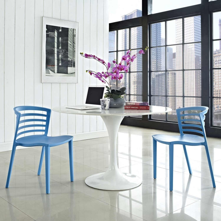 Curvy Dining Chairs Set of 2 - Blue