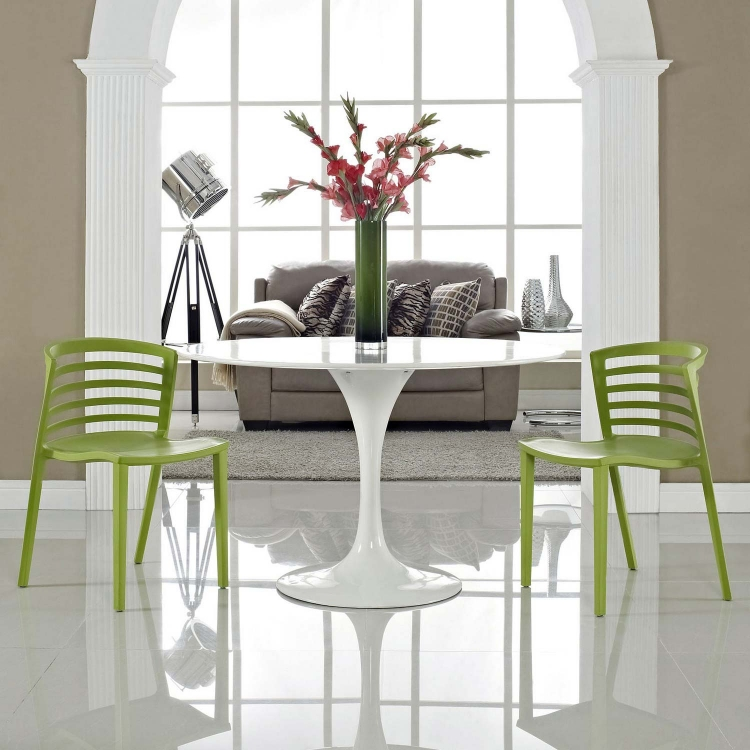 Curvy Dining Chairs Set of 2 - Green