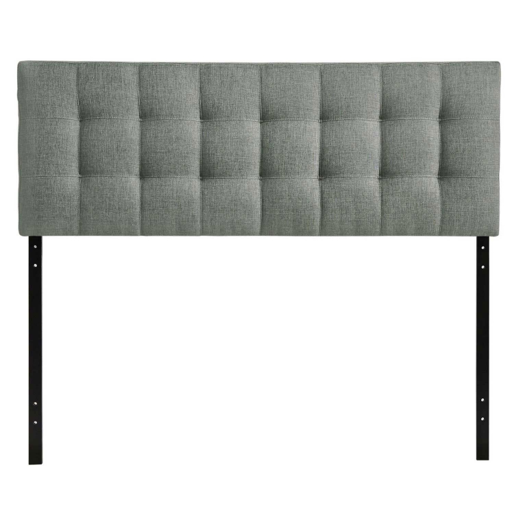 Lily Queen Fabric Headboard - Gray