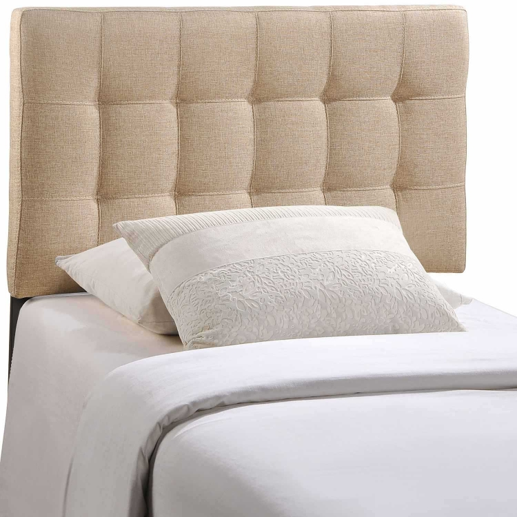 Lily Fabric Headboard - Beige