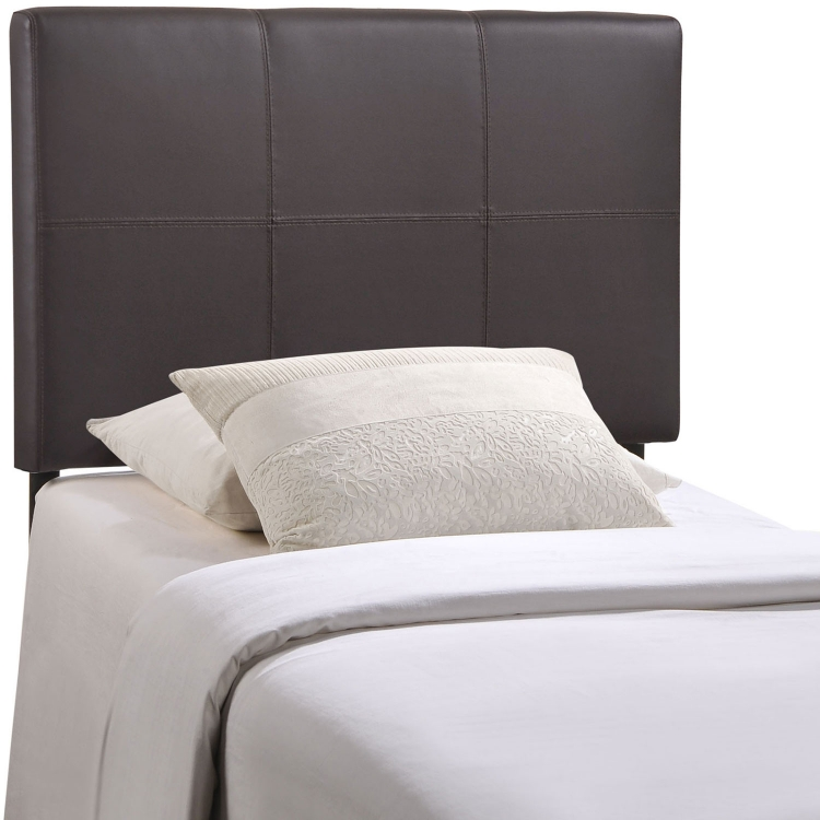 Oliver Vinyl Headboard - Brown