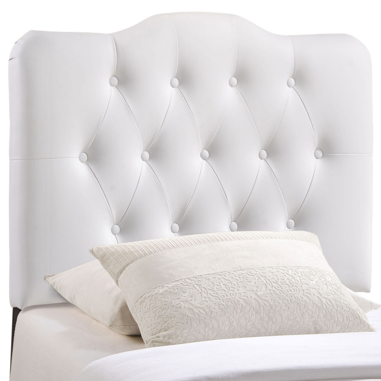 Annabel Vinyl Headboard - White