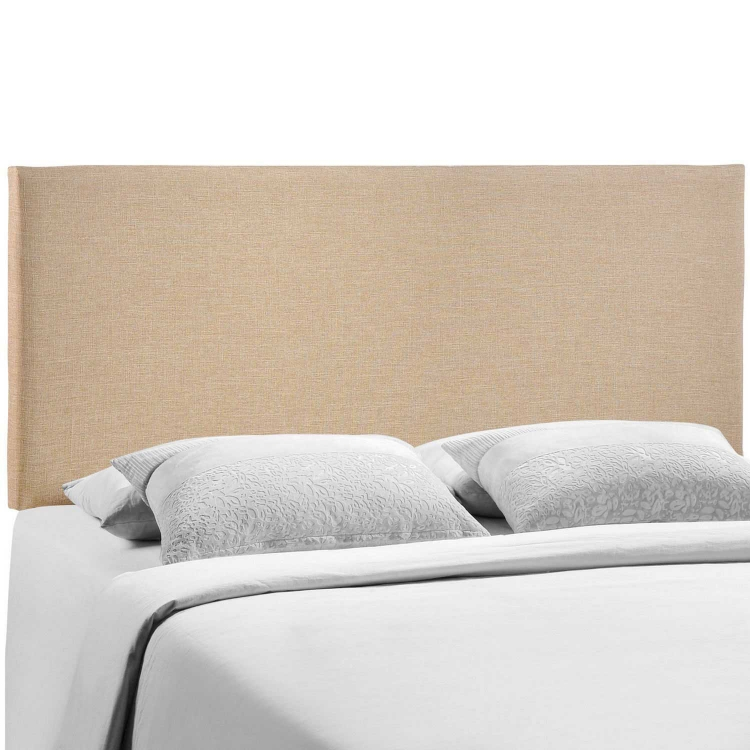 Region Queen Upholstered Headboard - Cafe