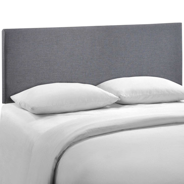 Region Queen Upholstered Headboard - Smoke