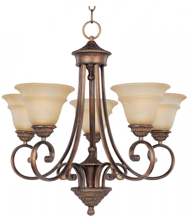Brighton 5 Lt Chandelier-Maxim Lighting