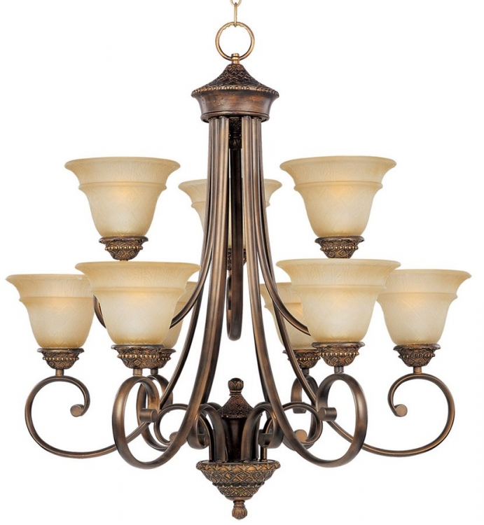 Brighton 9 Lt Chandelier-Maxim Lighting