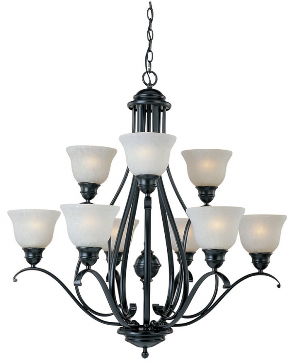 Linda 9 Lt Chandelier-Maxim Lighting
