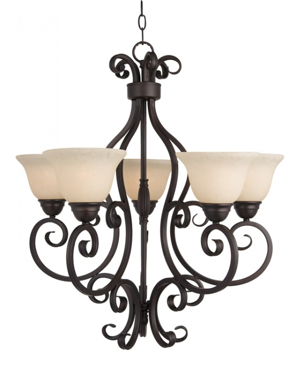 Manor 5 Lt. Chandelier-Maxim Lighting