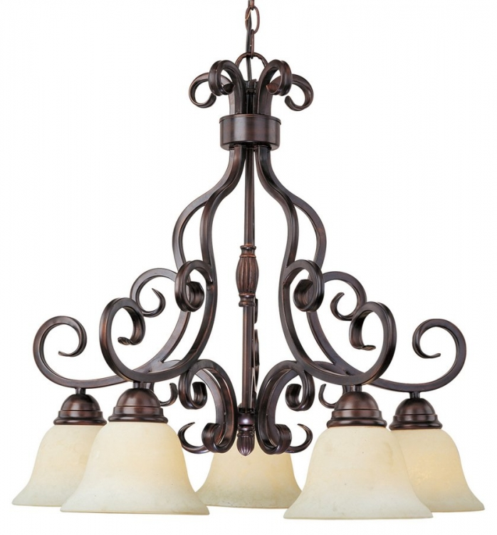 Manor 5 Lt. Chandelier Down-Maxim Lighting