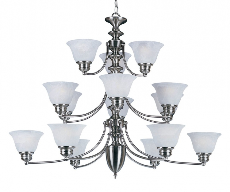 Malibu 15 Lt 3 Tier Chandelier