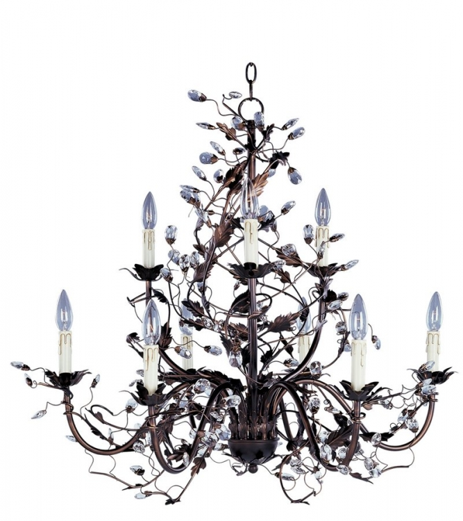 Elegante 9 Lt Chandelier-Maxim Lighting