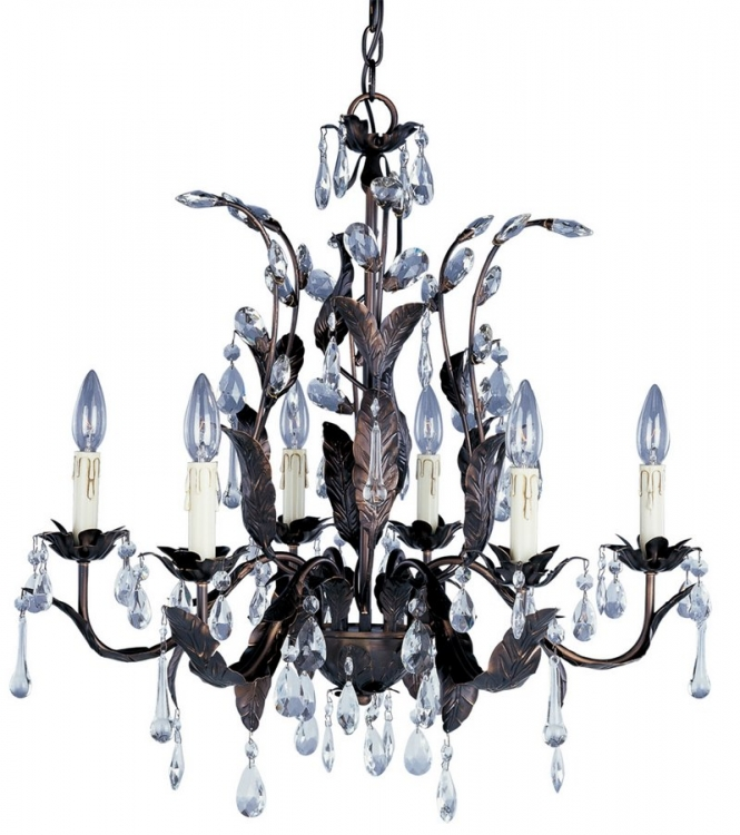 Grove 6 Lt Chandelier-Maxim Lighting