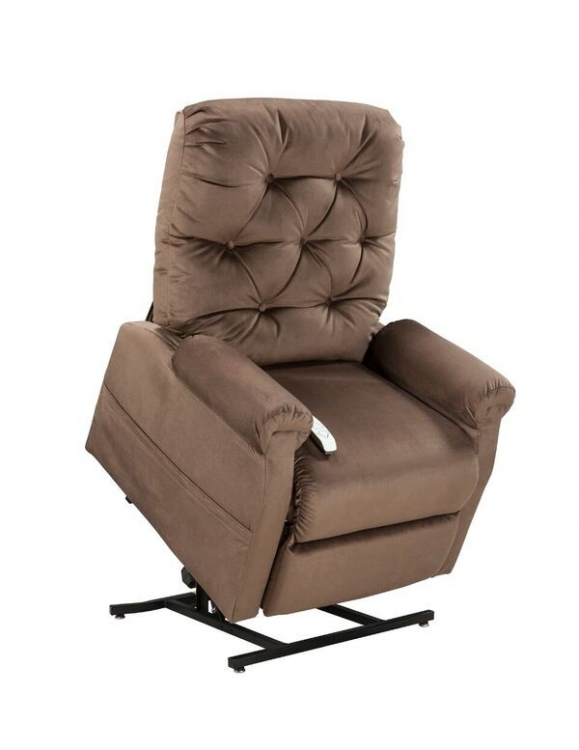 NM200 Classica 3-Position Power Lift Chaise Recliner - Chocolate