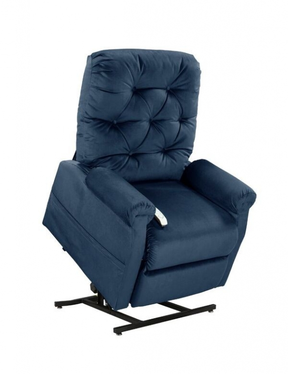 NM200 Classica 3-Position Power Lift Chaise Recliner - Navy