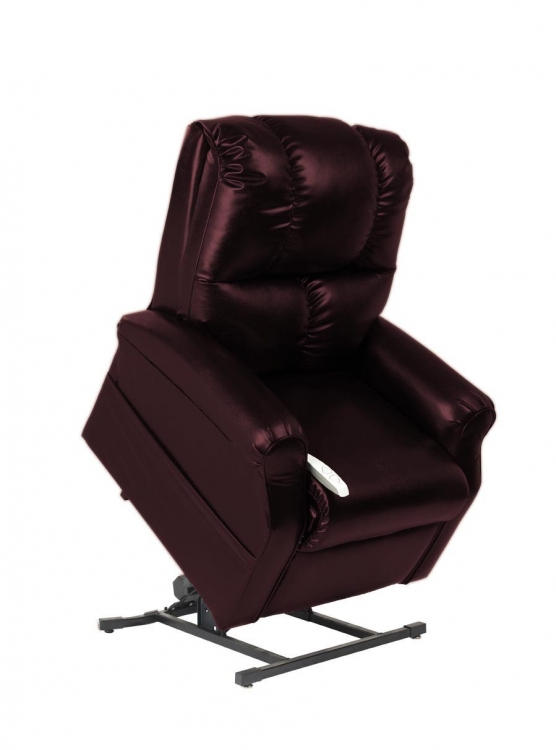 NM2001 Main Street 3-Position Power Lift Chaise Recliner - Burgundy