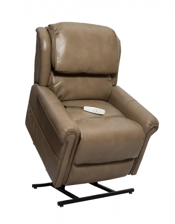 NM2350 Uptown 3-Position Power Lift Chaise Recliner - Mushroom