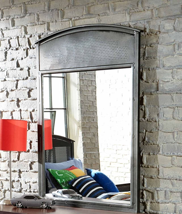 Urban Quarters Mirror - Black Steel