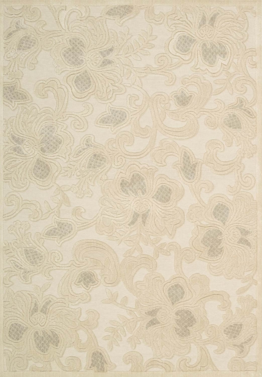 Graphic Illusions GIL02 Cream Area Rug