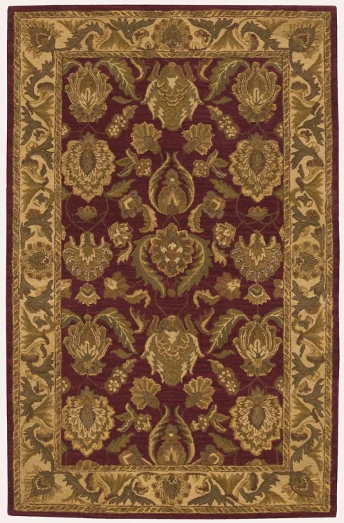 India House IH01 Burgundy Area Rug