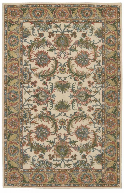 India House IH05 Ivory/gold Area Rug