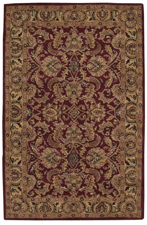 India House IH17 Burgundy Area Rug