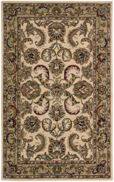 India House IH47 Ivory/gold Area Rug