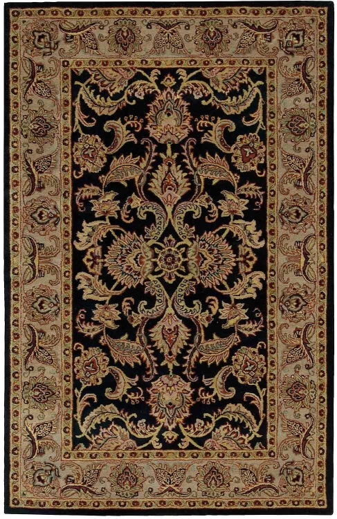 India House IH48 Black Area Rug