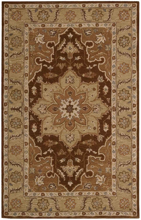India House IH66 Chocolate Area Rug