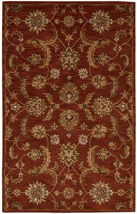 India House IH83 Brick Area Rug