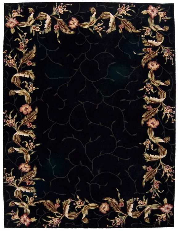 Julian JL46 Black Area Rug