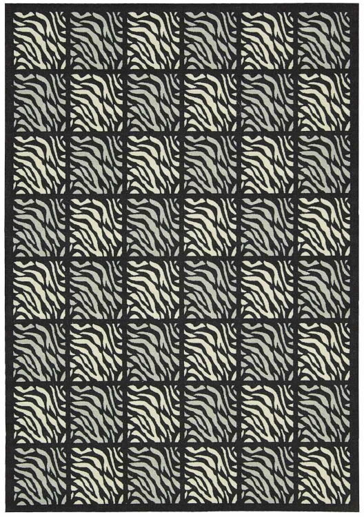 Home and Garden RS013 Black Area Rug