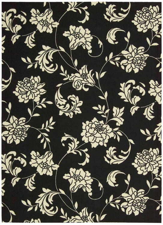 Home and Garden RS014 Black Area Rug