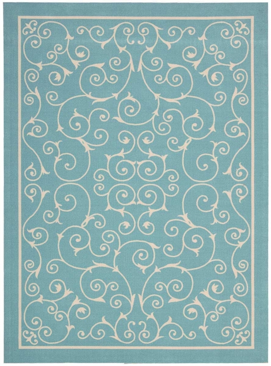 Home and Garden RS019 Light Blue Area Rug