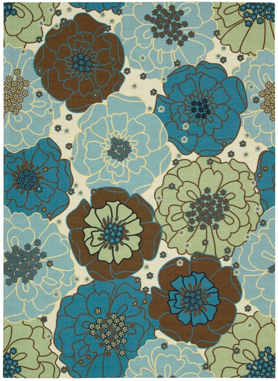 Home and Garden RS021 Light Blue Area Rug