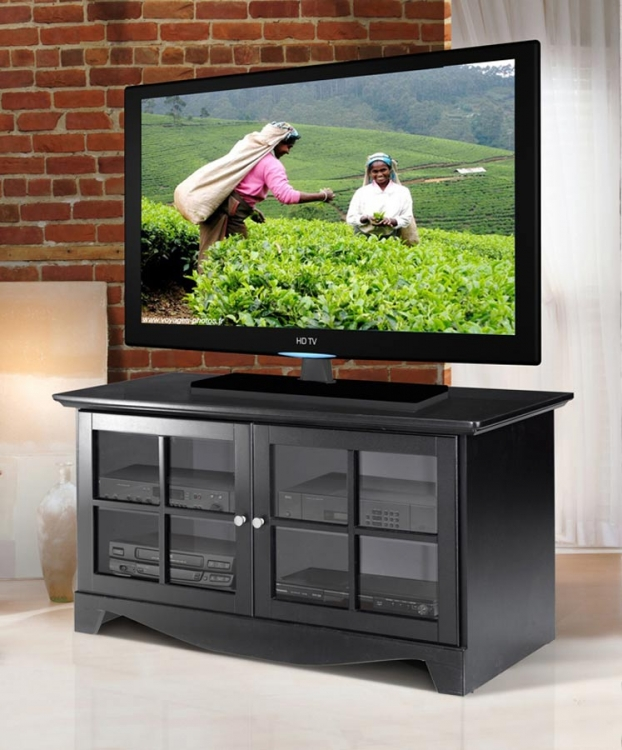 Pinnacle 49 Inch TV Console with Door - Black - Nexera