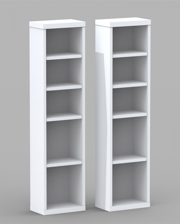Liber-T CD/DVD Storage Towers (Pair) - Nexera