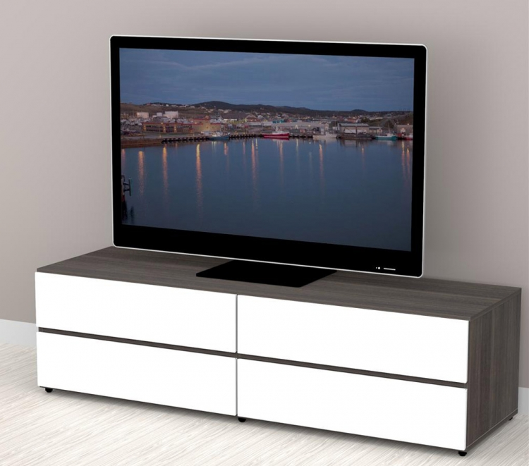 Allure 60 inch TV Stand - 2 Flip Doors, 2 Drawers - Nexera